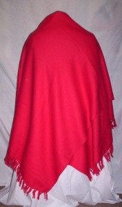 Red Wool Shawl