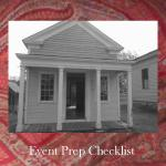 Getting ready for an event. A helpful sheet to help you have the basics for an event.