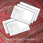 Swatch Card Templates - Version 1