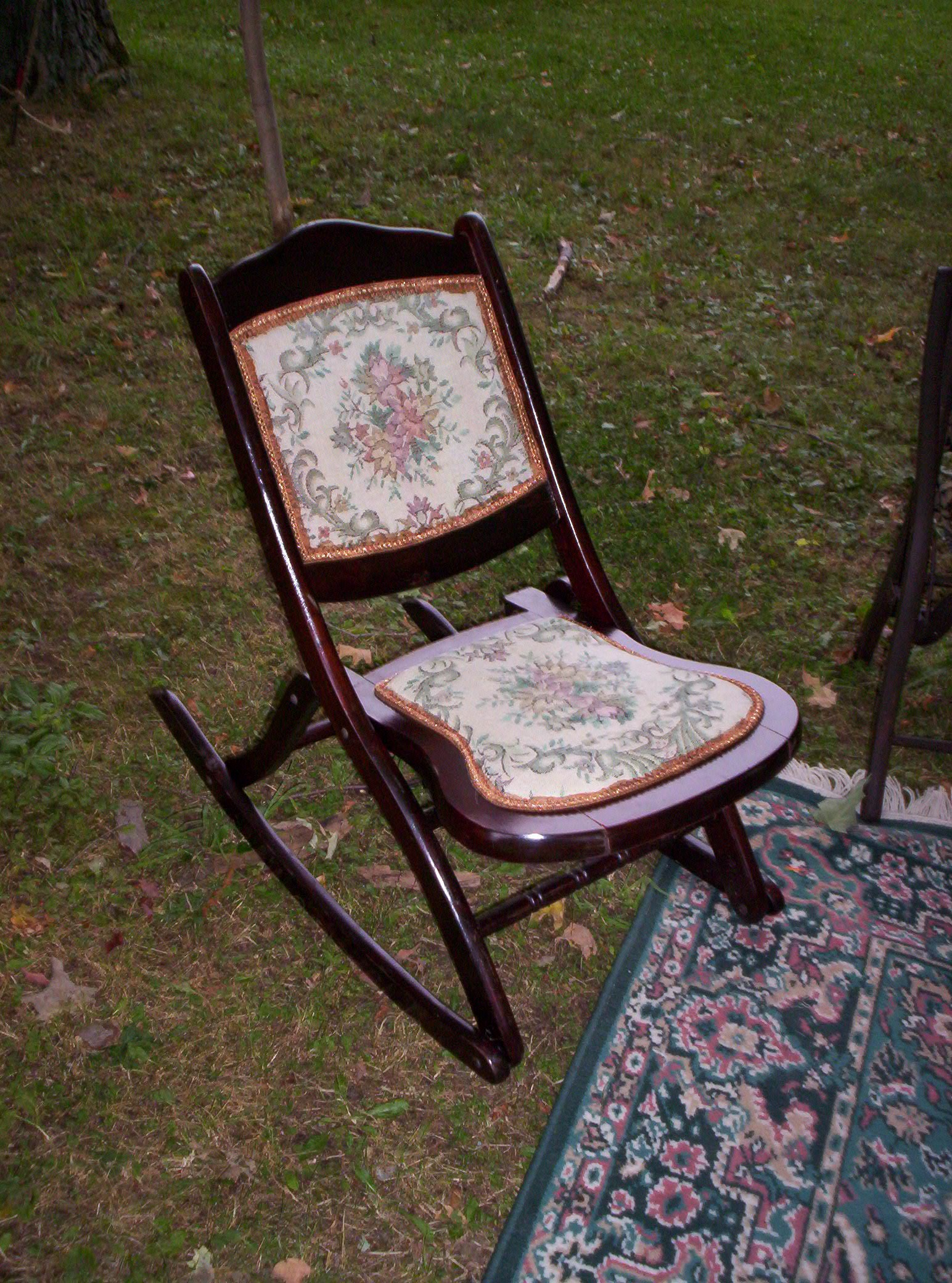 Folding Chairs If I Had My Own Blue Box - Antique Folding Rocking Chair  Value VTG - Antique Folding Rocking Chair Value Antique Furniture