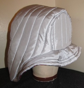 Silver-Gray Silk Quilted Hood - Available on Etsy