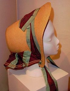 Straw bonnet from the Greene Collection at the Genesee Country Village