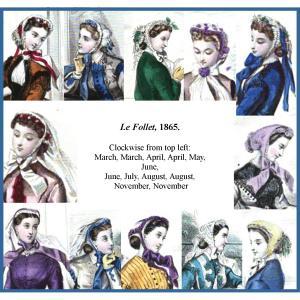 Le Follet 1865 Fanchons in color