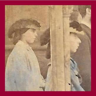 Close ups of how to wear a hat Stereoview The Baptisim