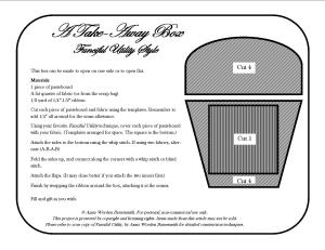 Take Away Box Template