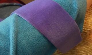 True color of violet purple ribbon