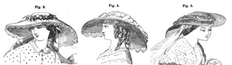 1858 Godeys July Garden Hats