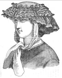 1863 Godeys April Garden hat