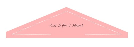 Heart Pincushion Triangle